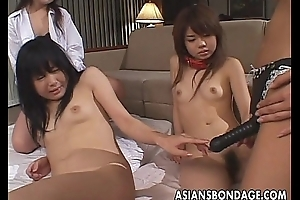 Two Asian sluts to disgust screwed at the end of one's tether two Asian bitches