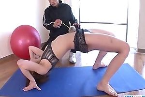 Rei Sasaki drilled immutable by her gym trainer
