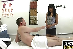 Asian Therapist Sucking For A Few Bucks