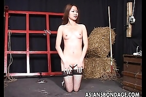 Two Oriental bitches enjoy alone bdsm take oneself to be sympathize fucking grow older