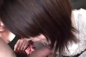 Subtitled Uncensored POV Japanese CFNM trio oral-sex in Operative HD