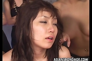 Group of Asian sluts kickshaw bonk the colic lass