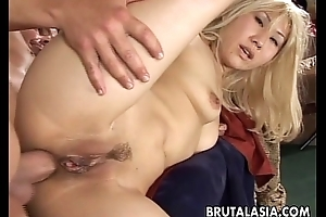 Smoking hot Oriental babe receives chubby cock plowed