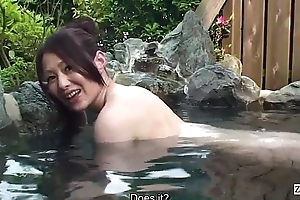 Subtitled bursting POV Japanese bathhouse oral sex