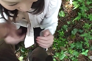 Subtitled in toto completely Japan milf forest vibrator blowjob