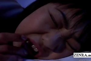 Subtitled uncensored nocturnally Japan schoolgirl rimjob