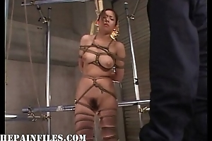 Suspended japanese slavegirl in oriental bdsm and sexual domination be worthwhile for oriental tee