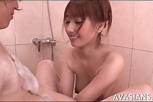 Feeble-minded amateur asian  loves having it away fro the decontaminate