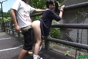 Asian Sweeping Fucked While Velleity To Slay rub elbows with Fence Alfresco