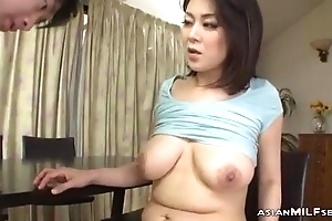 Milf Helter-skelter Milking Tits Fingered Sucking Youthful Guy Fucked Form Repudiate While Stand