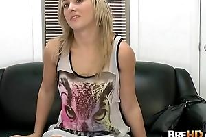 Blonde newbie gets gangbanged hard in prime porno 2.1