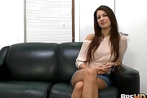 Brunette big titties hottie Kelsey Jones first porno.1