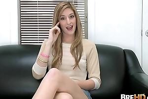 Blonde teen Casana Lei tries parts of first porn 1.2