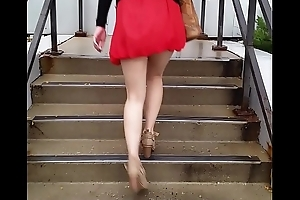 Hot Oriental in all directions a Mini Skirt Pt 1