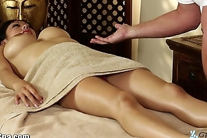 TrickySpa masseur Cock Massaged away from oriental Bottomless gulf Face hole