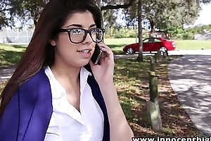 InnocentHigh Hot schoolgirl Ava Taylor in nerdy glasses drilled hardcore