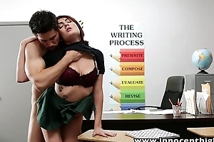 InnocentHigh Young innocent devilish student enticed on touching burgeon her horny instructor