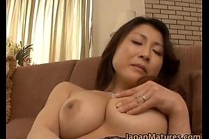 Horny japanese full-grown hotties engulfing