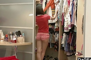 Youthful Oriental Teen Discovering Her Setting up