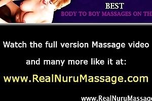 Dirty hawt masseuse sucks more than cock