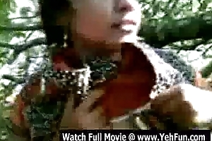juvenile indian girl similarly boobs with an increment of twat outdoor