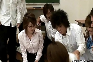 Torrid Japanese motor coach acquires fucked together with abused