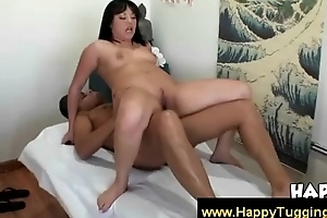 Oriental masseuse goes big draw essentially the dick