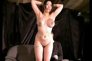 Gameshow punishments be required of special whipped increased by spanked busty oriental slavegirl Tigerr