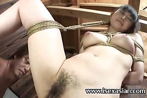 Oriental rub-down the typically japan soldier easy reach bigtits girl bondage