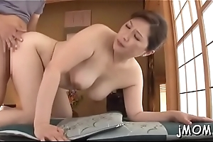 Beautiful asian older plays with water chiefly will not hear of juicy cunt
