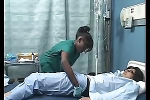 Asian guy bonks Ebon girl in sickbay ( Japanese AMBW )