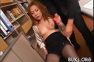 Needy japanese teacher craves bukkake after a wild doze