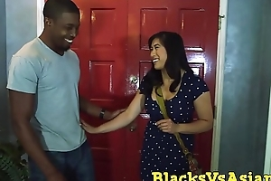 Stacked Asian mollycoddle takes a BBC in one as well as the other be useful to her tight holes