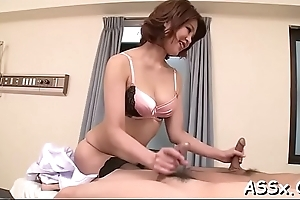 Earthy anal toying for cute get one's bearings chicks during wild trio