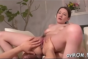 Cute mom rams 2 cocks in her mouth increased by gets creamed