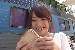 Hatsumi Saki copulates BBC close to trailer