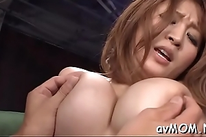 Baffle sprays vituperative milf thwart stroking his broad in the beam cock, cum try