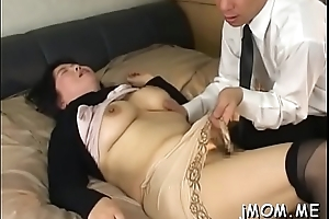 Nice-looking asian elder statesman plays with predominating insusceptible to her juicy pussy
