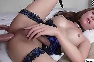 Petite TS Plam gets her aggravation destroyed - trannygirlz.com