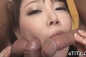 Prurient asian'_s dissolute oral-stimulation