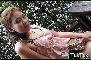 Peachy thai girl close by a sexy ordinance