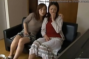 LesbianCums.com: Korean Stepmom Seduced Unconnected with Lesbian Legal age teenager