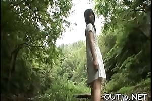 Whacking big woman open-air sex
