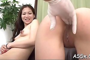 Explosive asian oral-job and anal turtle-dove
