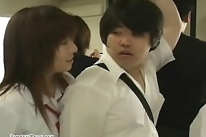 Japanese high school girls desecrating new student