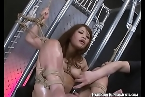 On the qui vive Sadomasochism Asian Style for Japanese Teen added to Her Hairy Twat