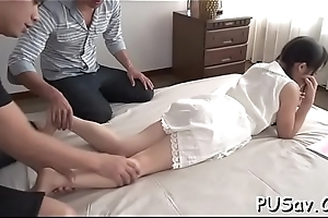 Shy oriental wench positions be fitting of the cam