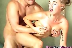 Nuru babe gets cumshot