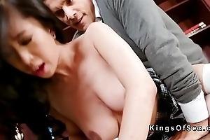 Oriental schoolgirl comedy uncultivated dick