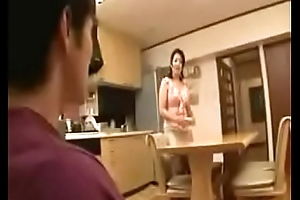 Japanese stepmom ablution with stepson